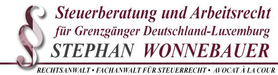 Stephan Wonnebauer - Fachanwalt für Steuerrecht - Avocat à la cour